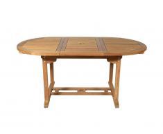 Table à manger de jardin extensible BYBLOS - Teck - L120-170cm