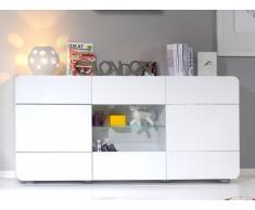 Buffet TREVOR - 3 portes - MDF Laqué - 181cm - Blanc