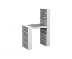 Meuble de bar SKARN - Blanc & plateau effet granite