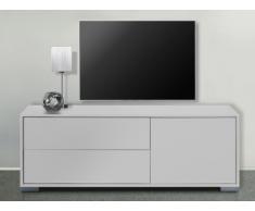Meuble TV KIRA - 1 porte & 2 tiroirs - Blanc