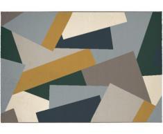 Tapis style design PABLO - 100% Polypropylène - 140x200 cm - Multicolore