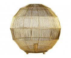 Lampe boule filaire à poser DJOBA - fer - D. 50 x H. 48cm - laiton brillant
