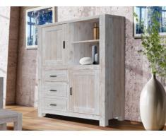 Buffet haut ADRIEN - 2 portes & 3 tiroirs - Bois d'épicéa massif