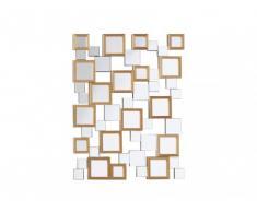 Miroir CURIOSO avec bois - 90 x 70 cm