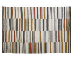 Tapis kilim tissé main en laine BODEGA - 160x230cm - Multicolore