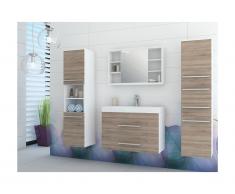 Ensemble MARYLIN - meubles de salle de bain - beige et blanc