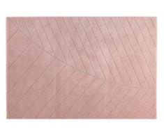 Tapis style scandinave FJORD - polypropylène et jute - 160x230 cm - Rose
