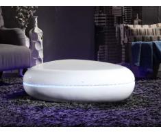 Table basse EGSY - Fibre de verre laquée - LEDs - Coloris blanc
