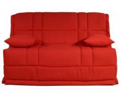 Canapé BZ en tissu HONOR couchage quotidien matelas BULTEX 12 cm - Rouge