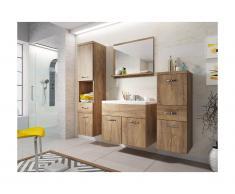 Ensemble CLAUDIA - meubles de salle de bain - effet bois