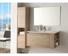 Ensemble BEHATI - meubles de salle de bain - Effet bois et blanc