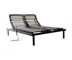 Sommier électrique de relaxation 5 plans de couchage - 140x200 cm - moteur OKIN