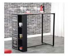 Meuble de bar ALICOTO - 2 portes - Coloris : Noir