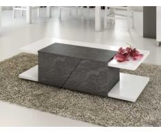 Table basse ISALINE II - 2 portes - Laqué blanc