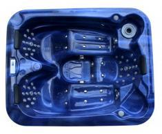 Spa 3 personnes FIDJI II bleu - 65 jets - L199*P85*l161 cm