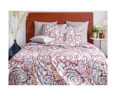 Parure de lit en satin GIPSY - housse de couette 240 x 260 cm + 2 taies d'oreiller 63 x 63 cm - multicolore
