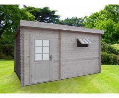 Sauna d'extérieur vestiaire KAVALIA - 5/6 places - 2 pièces - L423*H230*P280cm