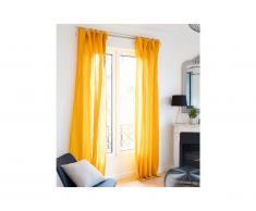 Lot de 2 rideaux en gaze de coton LEGERO - 140 x 260 cm - moutarde