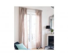 Lot de 2 rideaux en gaze de coton LEGERO - 140 x 260 cm - gris