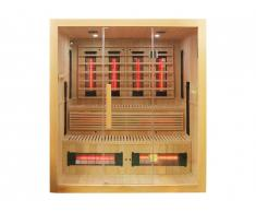 Sauna infrarouge à spectre complet 4/5 places Gamme prestige NASKO - L180*P160*H200 cm - 3000W