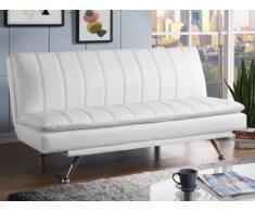 Canapé clic-clac MYRIAM en simili - Blanc
