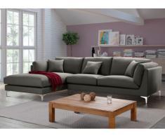 Canapé d'angle FLAKE en tissu - Angle gauche - Gris