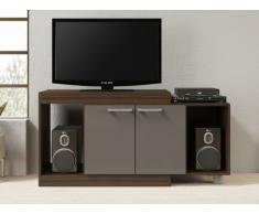 Meuble TV extensible THIAGO - 2 portes & 2 niches - Wengé