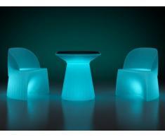 Salon de jardin KIRUNA à LEDs - table + 2 fauteuils