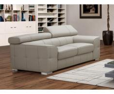Canapé 2 places en cuir EMILIO - beige