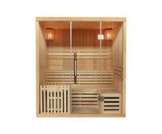 Sauna traditionnel Finlandais 4/5 places KOLDING - 180x160x200cm - Equipé de leds