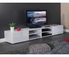 Meuble TV HILAIRE - 4 niches & 2 tiroirs - Coloris blanc