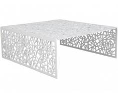 Table basse SPLENDEUR en aluminium - Coloris blanc