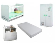 Pack Toute ma chambre bébé - Collection PIPOU + matelas 60x120 cm