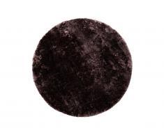 Tapis shaggy rond effet brillant TAIKO - Grammage : 1650g/m² - D. 150 cm - Mauve