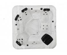 Spa 6/7 personnes MANIHI - Système Balboa - Blanc perlé - 30 jets - L230 x l230 x H90 cm
