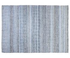 Tapis FERIEL - Laine et coton - 160*230 cm - Bleu