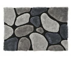 Tapis shaggy PIETRA gris - polyester - 120*170cm