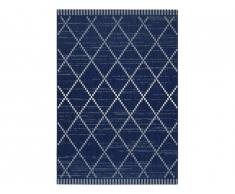 Tapis intérieur et extérieur ATOME - Polypropylène - 160 x 230 cm - Denim bleu