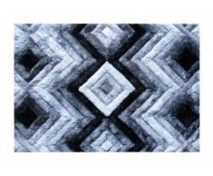 Tapis shaggy effet 3D APICA - 100% Polyester - Gris - 160 x 230 cm