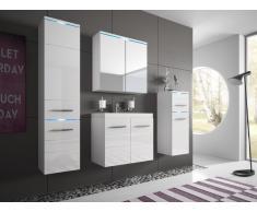 Ensemble CLEMENCE à leds - meubles de salle de bain - laqué blanc