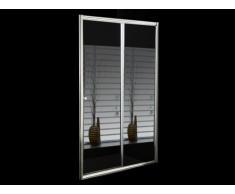 Paroi de douche coulissante avec miroir CRISTINA - 120x190cm