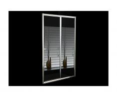 Paroi de douche coulissante avec miroir CRISTINA - 120x190 cm