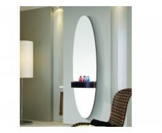 Miroir mural SHYNA avec tablette - H.150 cm - Noir