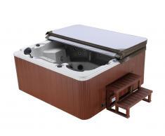 SPA 6 places gris granité Gamme prestige ULYSSE IV - 132 jets - l220 x L220 x H97 cm - Système Balboa