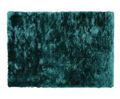 Tapis shaggy DOLCE - Polyester - 160 x 230 cm - vert pinède