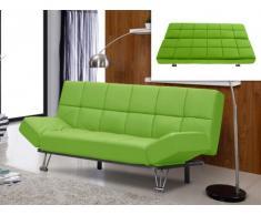 Canapé clic-clac en simili ESPOO - Vert