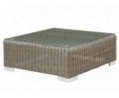 Table basse de jardin PATACHO en résine tressée beige