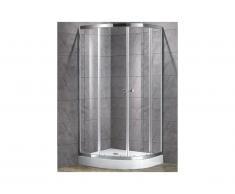 Paroi d'angle de douche avec receveur MILOA - 80 x 80cm