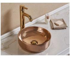 Vasque de salle de bain KANELLE - effet cuivre