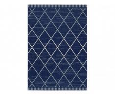 Tapis intérieur et extérieur ATOME - Polypropylène - 200 x 290 cm - Denim bleu